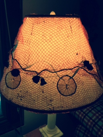 distressed lamp